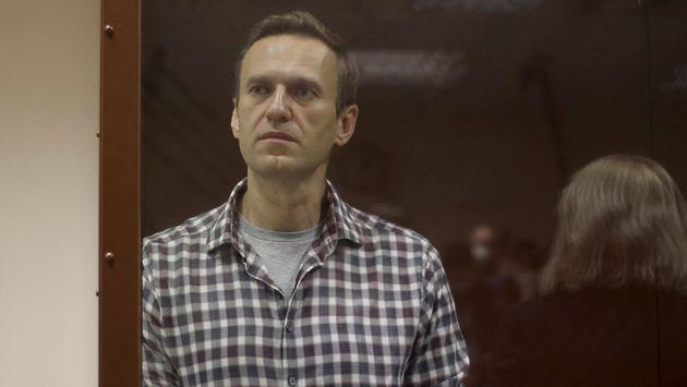 Navalny lors d'une audience à Moscou, en février