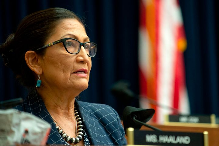 Rep. Debra Haaland (D-N.M.) speaks during a House Natural Resources Committee hearing on June 29, 2020.