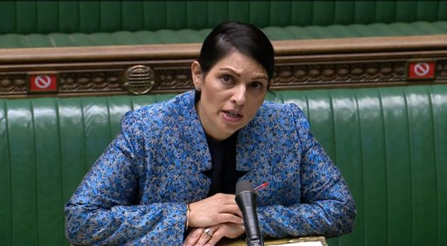 Home secretary Priti Patel speaking in the House of Commons, London, in the aftermath of last Saturday's...