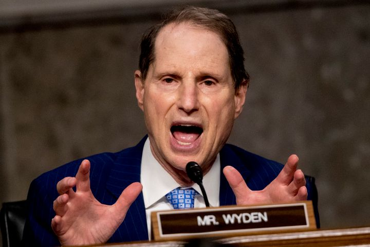 Sen. Ron Wyden (D-Ore.) speaks on Capitol Hill, June 17, 2020.