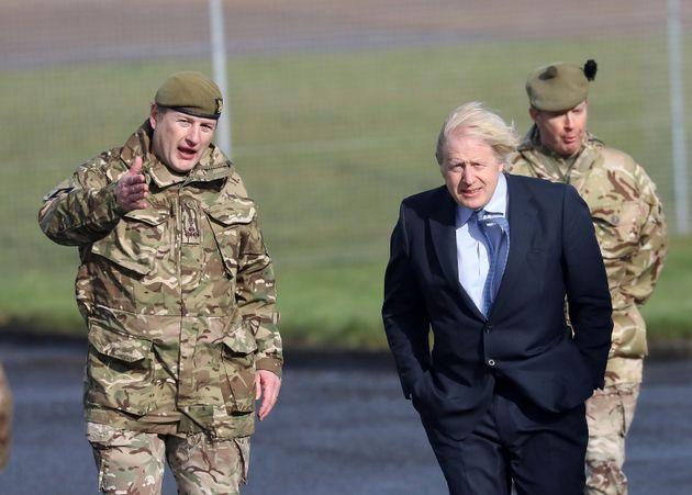 El primer ministro británico, Boris Johnson, durante una visita a Irlanda del