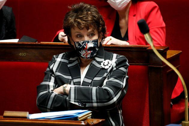 Roselyne Bachelot (ici à l'Assemblée le 12 janvier 2021) n'a pas apprécié la Cérémonie des César