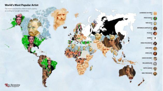 Ντα Βίντσι, Banksy, Φρίντα Κάλο: Οι πιο δημοφιλείς δημιουργοί στην Google τo