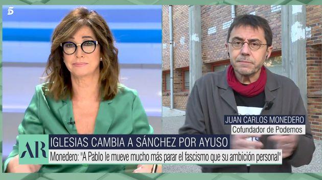Tensión entre Ana Rosa Quintana y Juan Carlos