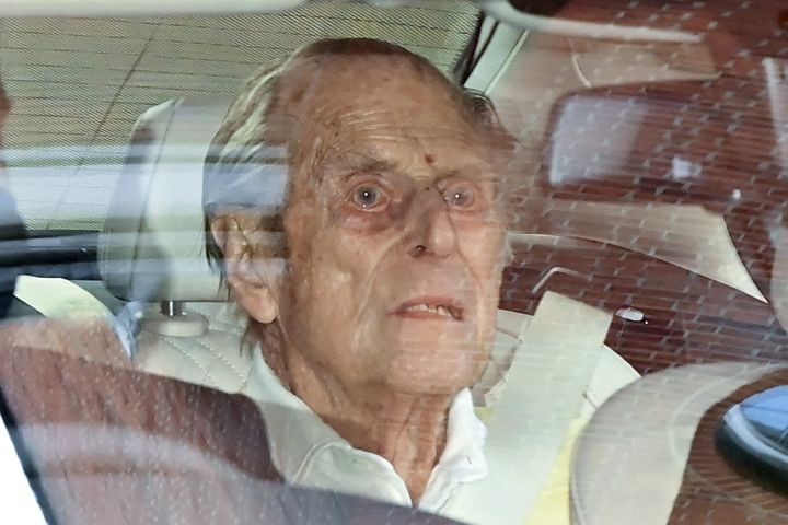 Prince Philip leaves King Edward VII's Hospital in central London on March 16, 2021.