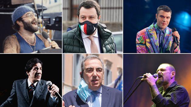 Dalla, Salvini, Fedez, Gaber, Gasparri, 'O