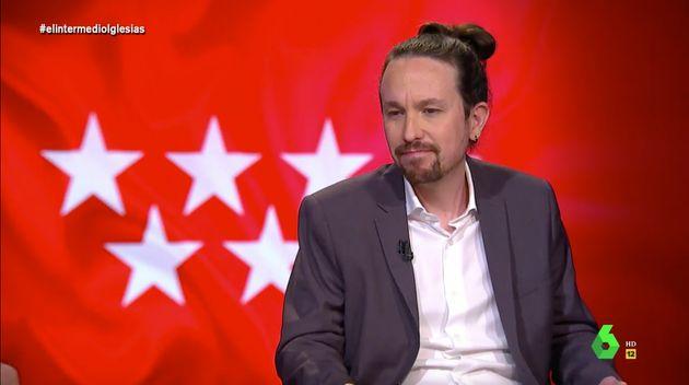Pablo Iglesias pone cara de contrariado en 'El