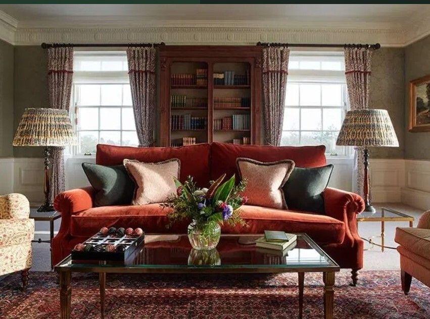 Καθιστικό σε ζεστά χρώματα στο The Gleneagles Hotel