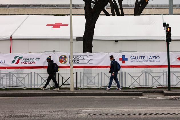 16/03/2021 Roma, Hub della Stazione Termini fermo dopo la sospensione dei vaccini