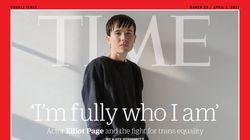Elliot Page, primer hombre transgénero en la portada de