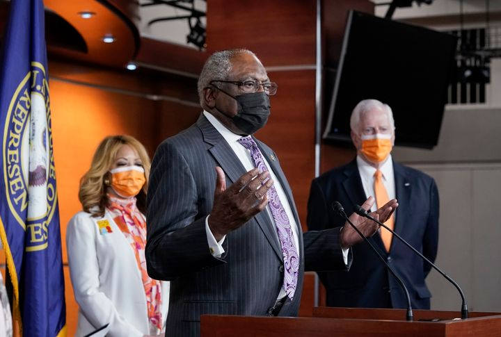 House Majority Whip James Clyburn (D-S.C.) speaks at a news conference at the Capitol in Washington, D.C., March 11.