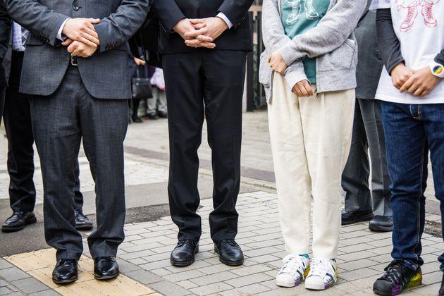 (左から)国見亮佑さんとたかしさん、EさんとCさん
