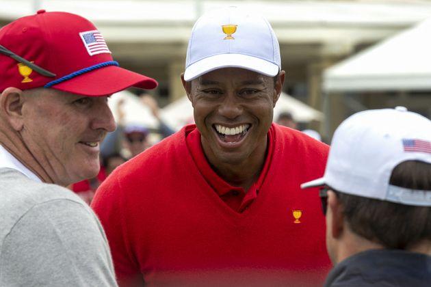 Tiger Woods après un tournoi de golf à Melbourne, en Australie, le 15 décembre
