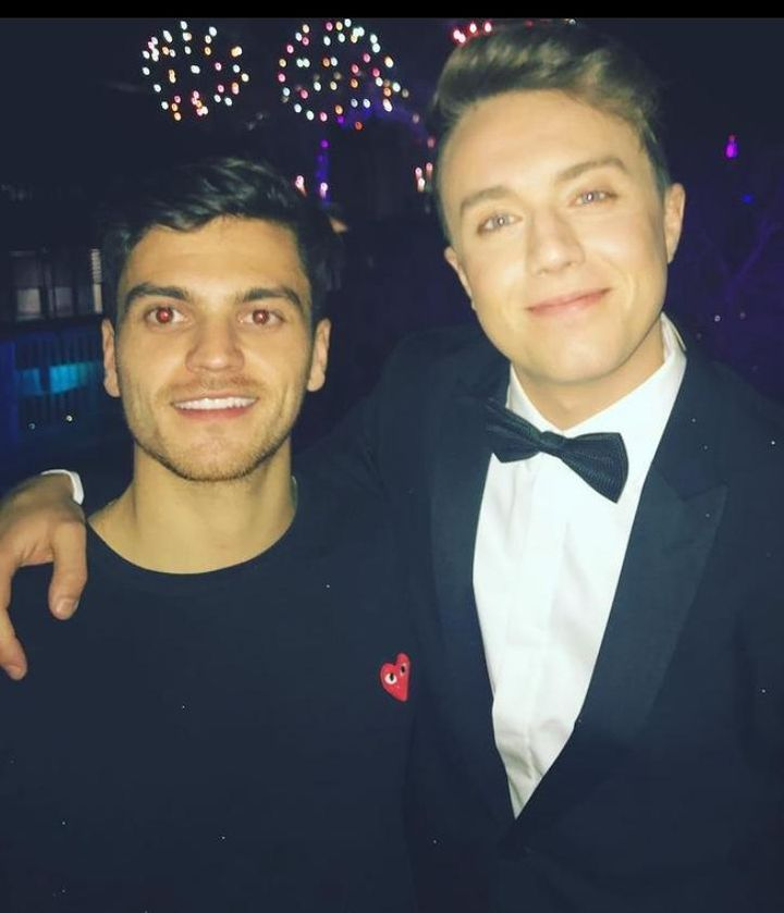 Roman Kemp with his producer and best mate Joe Lyons, who tragically took his own life last year