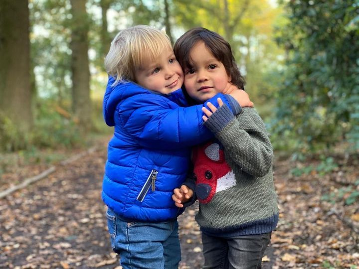 """On October 17, after not seeing each other for several months, cousins Rafe and Benjamin (both two) met for a woodland walk. Having barely seen each other last year, we wondered how they would act, so it was lovely to see them running around together totally unaware of the pandemic!"" – Jennifer Edmondson, 34, York."