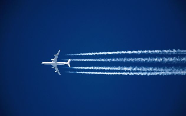Planes contrails are believed to have a potentially significant warming