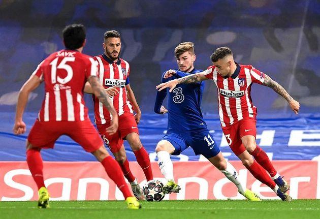 El partido del Atlético contra el Chelsea en octavos de final de la