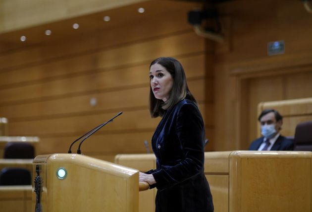 La senadora de Ciudadanos Ruth Goñi en una sesión de la Cámara Alta, en