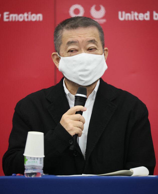 東京五輪・パラリンピックの開閉会式について記者会見するクリエーティブディレクターの佐々木宏さん