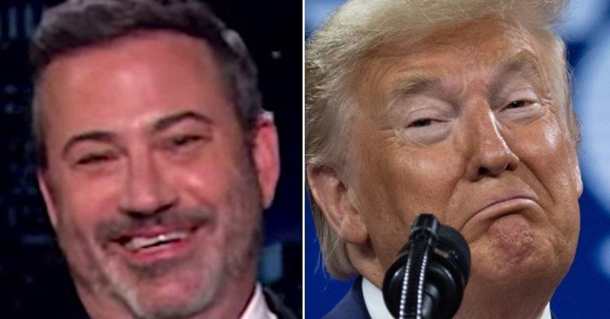 Jimmy Kimmel Spots The Saddest Part Of Trump's 75th Birthday Party