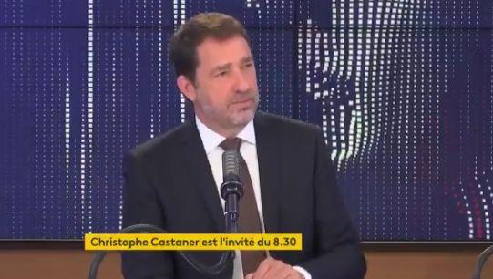 Christophe Castaner sur le plateau de france info jeudi 18