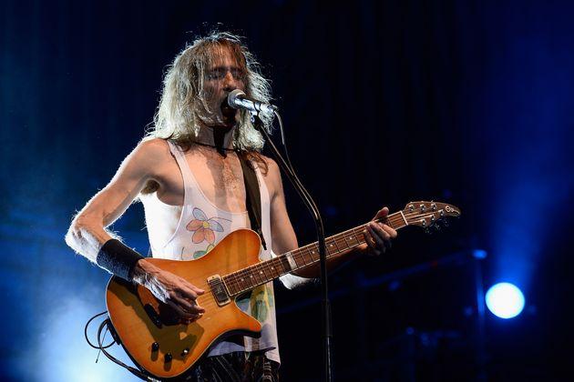 Robe Iniesta, en un concierto de Extremoduro en Las Ventas en septiembre de