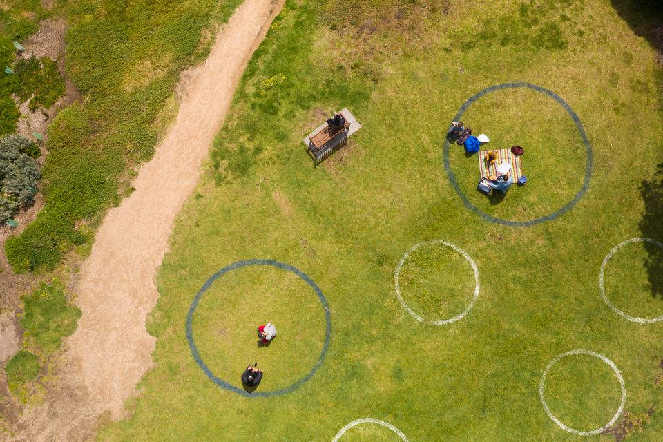 Some festivals, such as Gisburne Park Pop Up in northern England, have implemented socially distant seating...