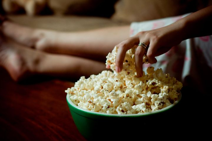 If you're going to snack at night, popcorn is a recommendation option ― just skip the butter.