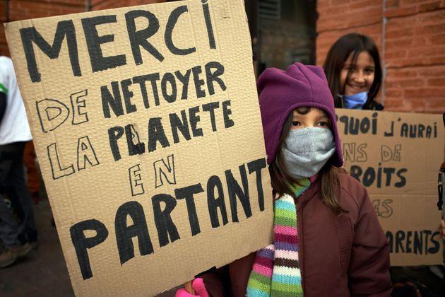 La jeunesse face au défi de remobiliser ses troupes pour le climat (photo d'illustration prise...