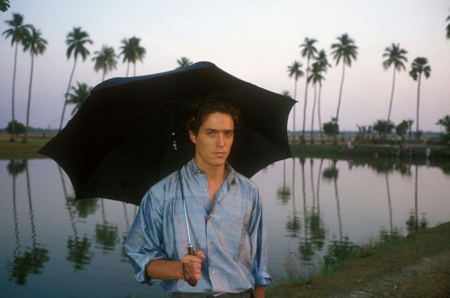 Hugh Grant on the set of The Bengali Night in