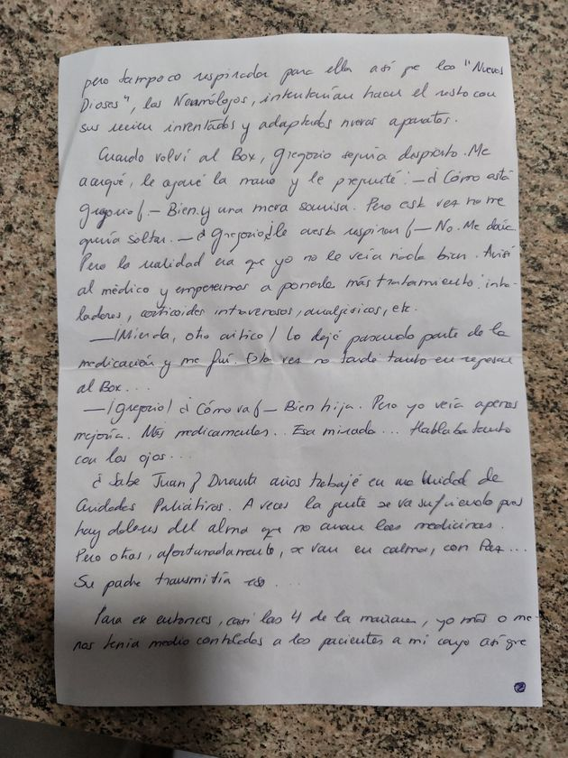 Carta de la enfermera (página