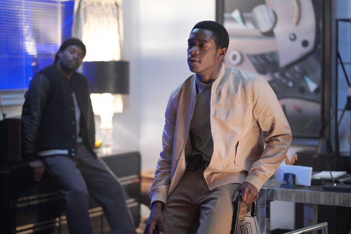 "Amin Joseph plays Jerome Saint and Damson Idris plays Franklin Saint in ""Snowfall."""