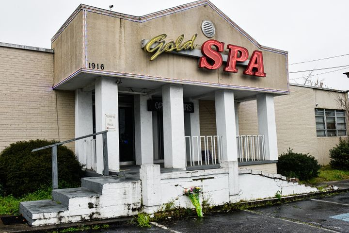 Gold Spa, one of the three Asian massage parlors attacked by a gunman on March 16, 2021. Six Asian women were among eight peo