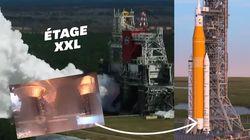 La Nasa réussit le dernier test de sa fusée géante SLS qui doit partir sur la