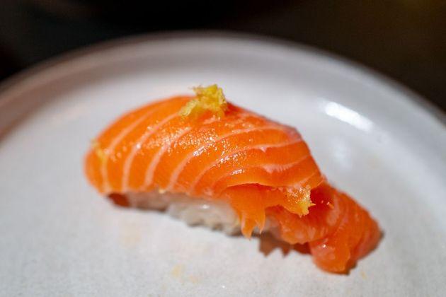 Un sushi dans un restaurant éco-responsable en Californie en décembre 2019. California, December,