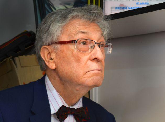 El historiador Ángel Viñas, en la Feria del Libro de Madrid de