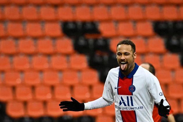 Neymar, le joueur le mieux payé de Ligue 1, affrontait avec le PSG le club de Lorient, le 31 janvier