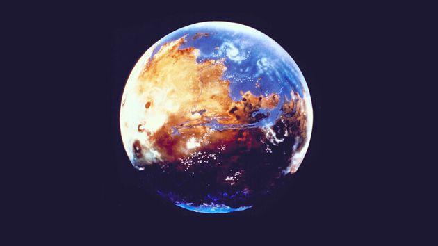 물이 풍부했던 수십억년 전의 화성 상상도. 나사