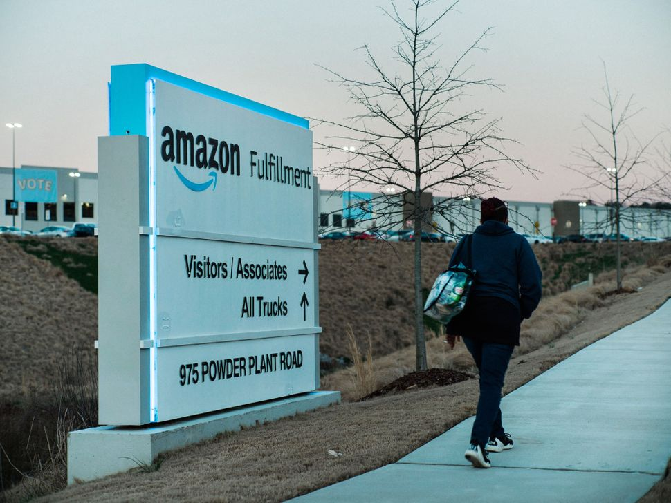 Amazon's BHM1 fulfillment center in Bessemer, Alabama. If union organizers are successful, it will become the first unionized