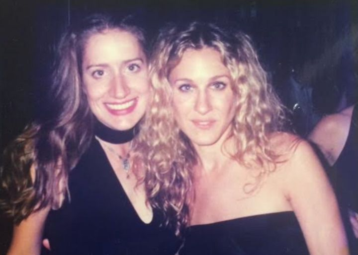 The author with Sarah Jessica Parker.