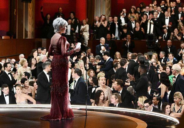 Les Oscars 2021 se dérouleront en présentiel malgré le Covid-19 (photo de la cérémonie 2020, le 9 février,...