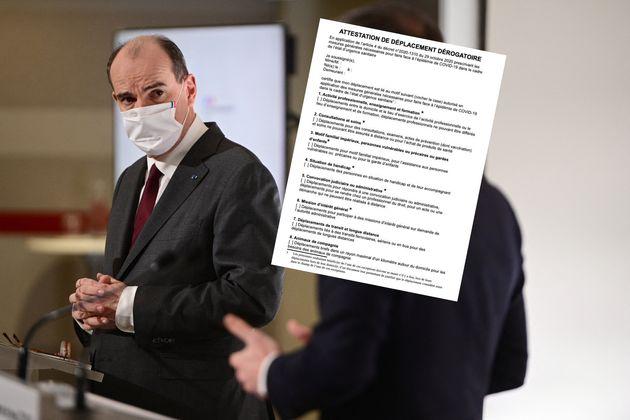 Jean Castex photographié lors de sa conférence de presse du jeudi 18