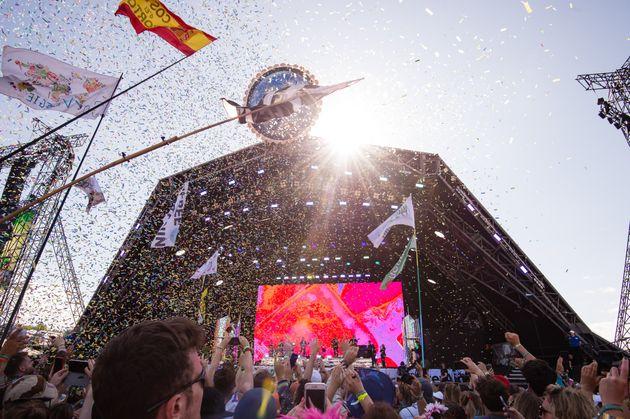 Glastonbury's iconic Pyramid stage in