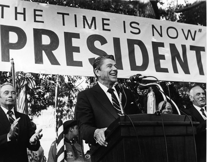 The political success of President Ronald Reagan, who constantly attacked government, helped create a political environment i