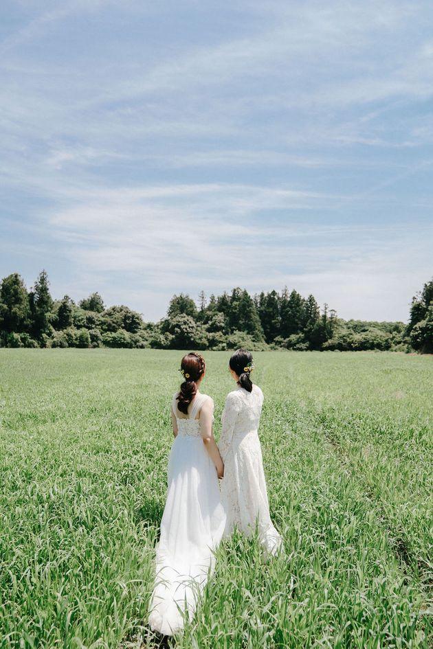 서로를 '와이프'라고 부르는 연인과 2019년 11월 결혼식을 올리기에 앞서 김규진씨 커플은 웨딩 화보를