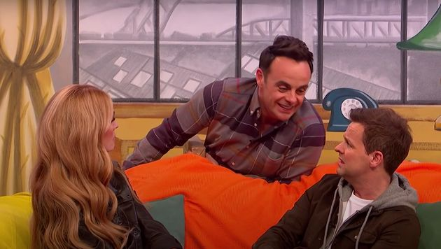 Ant and Dec with Cat Deeley in