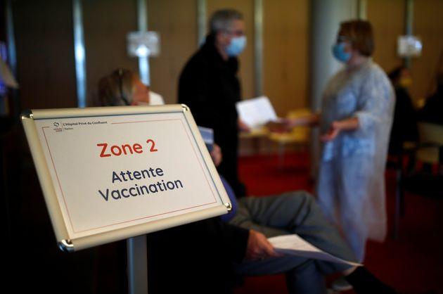 Photo prise à l'hôpital Confluent de Nantes en pleine campagne de vaccination le 18 mars