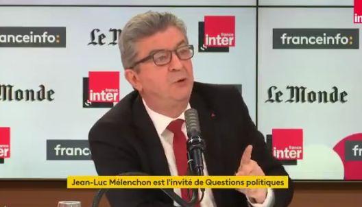 Jean-Luc Mélenchon sur le plateau de