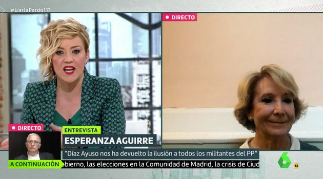 Cristina Pardo entrevista a Esperanza Aguirre en 'Liarla