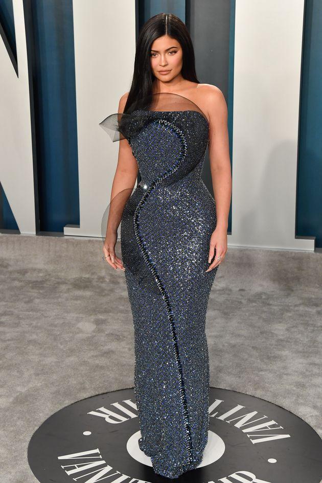 Kylie Jenner at the 2020 Vanity Fair Oscar Party last